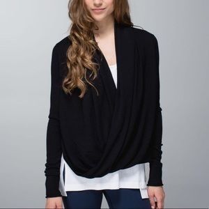 Lululemon Iconic Sweater Wrap Black Size 12
